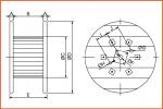 Embalaje CAC bobina de madera