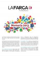 Memoria Actividad Fundació La Farga 2013