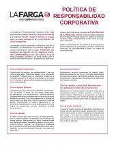 Política de Responsabilitat Corporativa