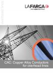 Catàleg CAC (Copper Alloy Conductor) per línies aèries